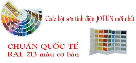 bảng mãu màu jotun