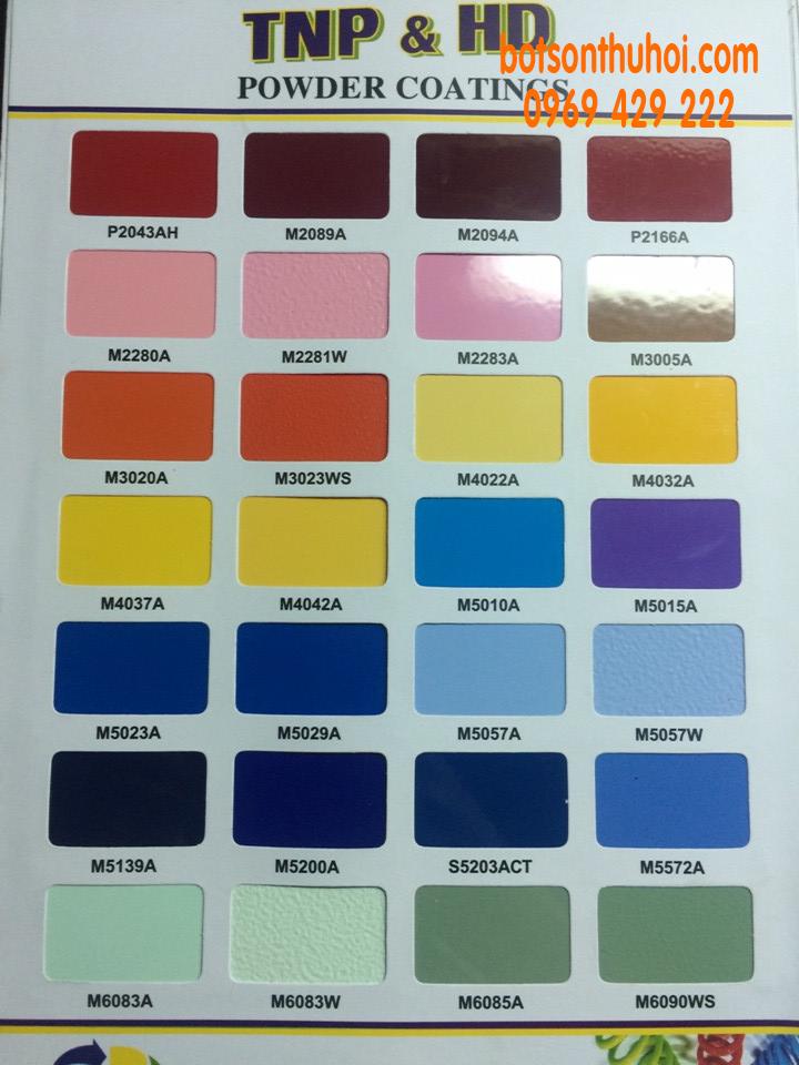 Ký hiệu màu bột sơn tĩnh điện Tân Nam Phát