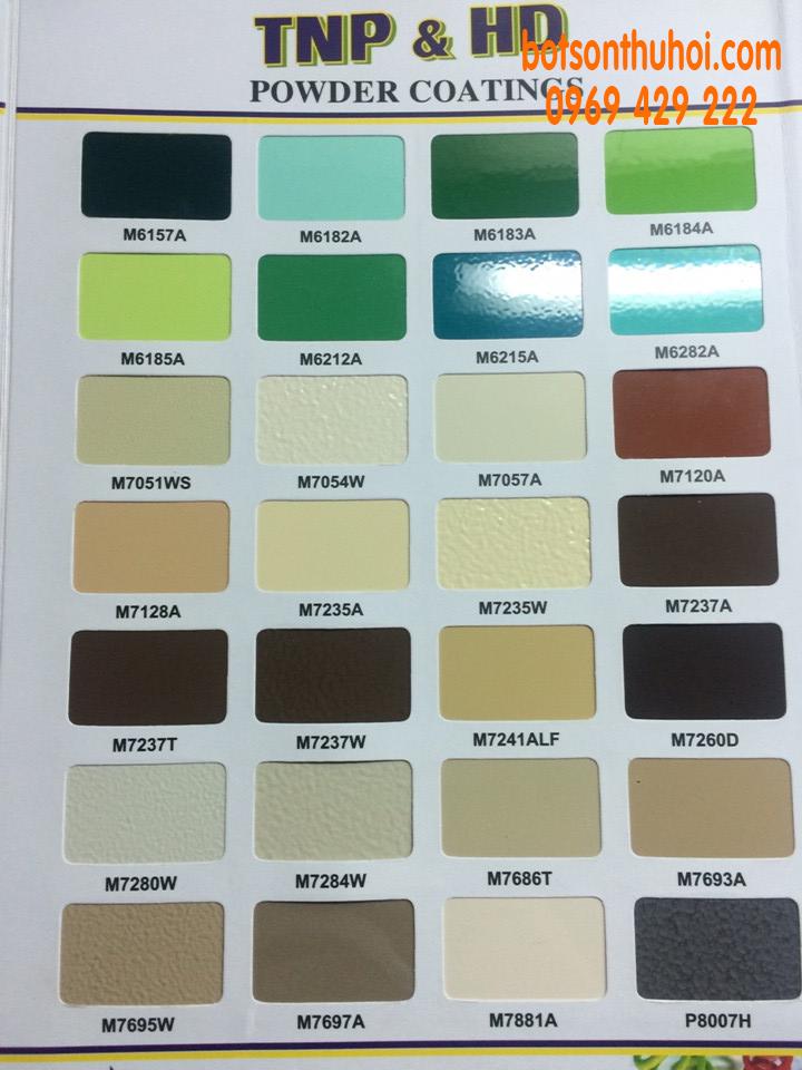 Bảng màu công ty Tân Nam Phát